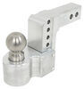 weigh safe trailer hitch ball mount adjustable two balls 2-ball w/ built-in scale - 2 inch 4 drop 5 rise 10k