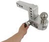 weigh safe trailer hitch ball mount adjustable class iv 10000 lbs gtw 2-ball w/ built-in scale - 2 inch 4 drop 5 rise 10k