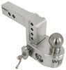 weigh safe trailer hitch ball mount adjustable two balls